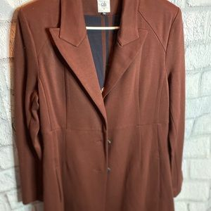 CABI long pleated back wool blend peacoat. Size M